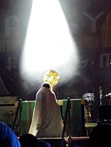 Adoration of the Eucharist at AbbeyFest 2015